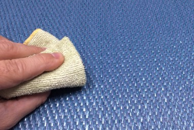 Limpieza de pavimento vinílico tejido